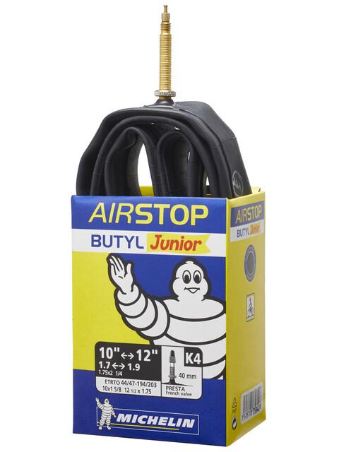 Michelin K4 Airstop Camera d'aria 12 pollici valvola Presta nero